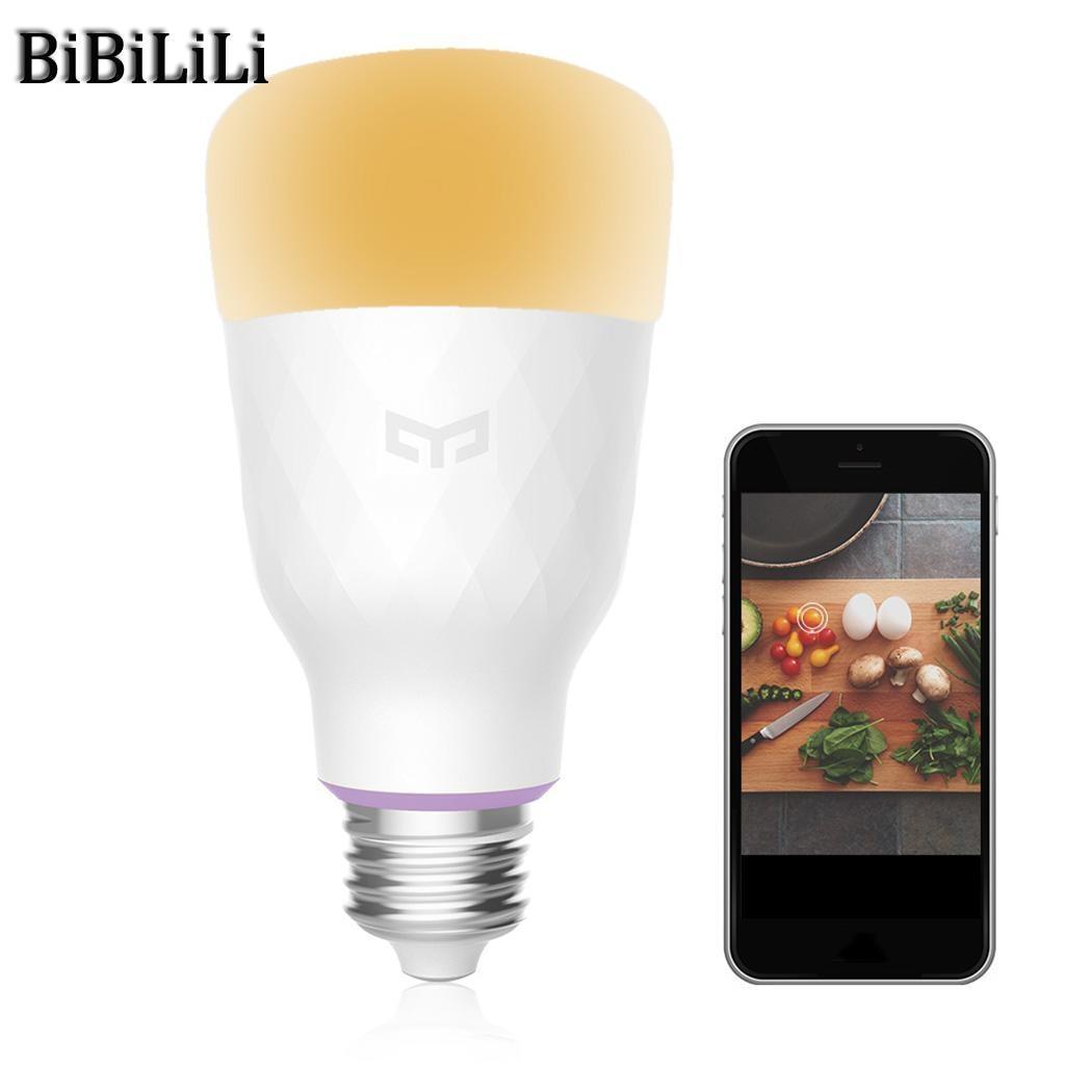 Offre spéciale! Xiao mi Yeelight RGB LED ampoule intelligente couleur E27/E26 ampoule commande vocale mi ampoules intelligentes téléphone télécommande - 4
