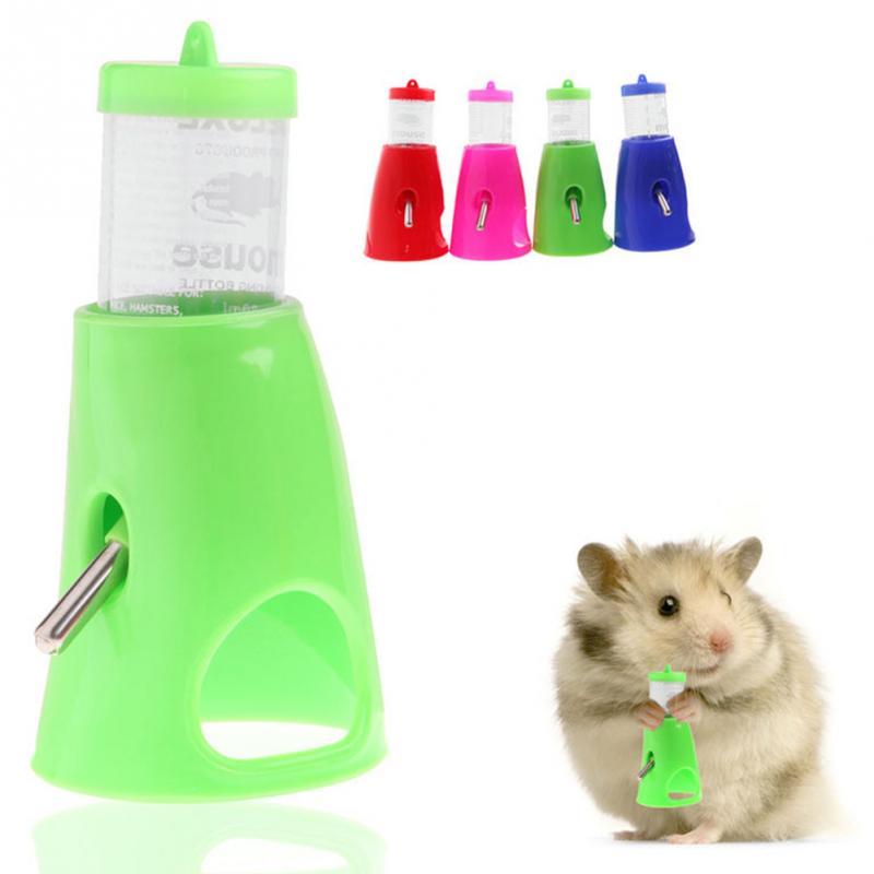 2 in 1 Hamster Water Bottle Holder 80ML Dispenser With Base Hut Small font b Pet