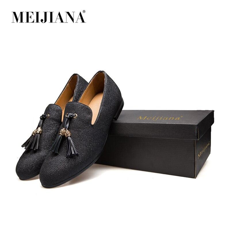 Sapatas Metal Preto Borla Gentleman Dos Luxo Marca Handmade ouro Mocassins Dourado Fundo Loafers Stress Vermelho Sapatos Ouro Homens De Moda azul x0w6ATn0rq