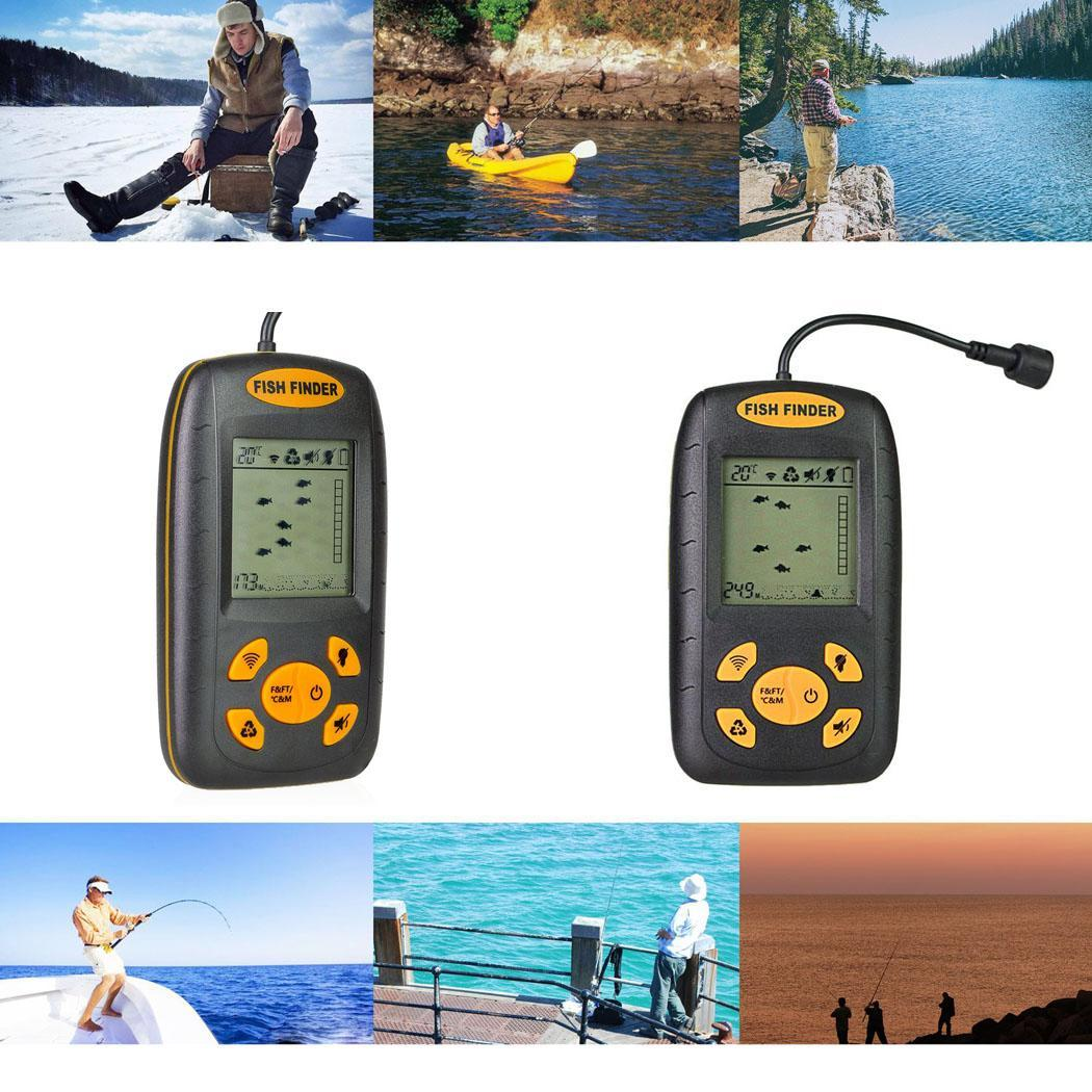 Portable Ultrasonic Wired Fish Detectors Fish -10C 45C Finder Outdoor Fishing 45 degrees finder display ToolsPortable Ultrasonic Wired Fish Detectors Fish -10C 45C Finder Outdoor Fishing 45 degrees finder display Tools