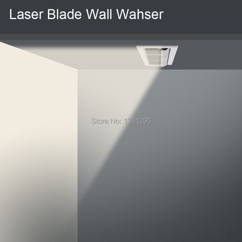 Laser Blade Downlight Linear Wall Washer Recessed LED Lighting art gallery Flush mount Ceiling Down Light 10W 20W 30W CRI 90