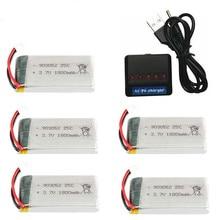 1800 мАч 3,7 в lipo Батарея Зарядное устройство для KY601S SYMA X5 X5S X5C X5SC X5SH X5SW M18 H5P HQ898 H11D H11C T64 T04 T05 F28 F29 T56 T57