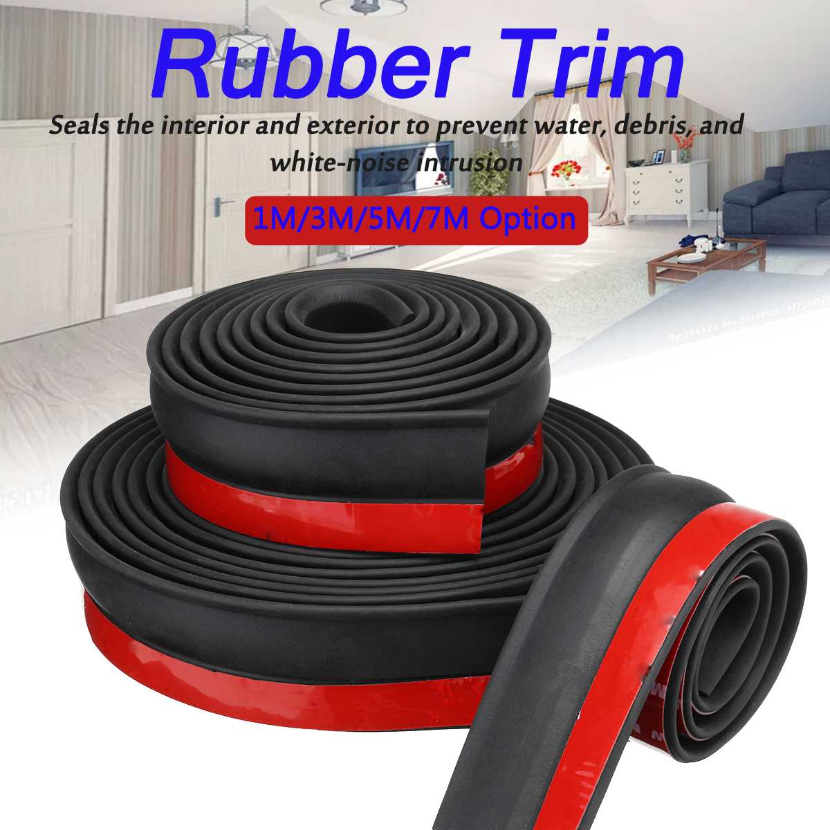 7m/3m/1m Universal Garage Door Bottom Weather Stripping Rubber Seal Strip Replacement Door Seal Strip Home Accessory 2019 New