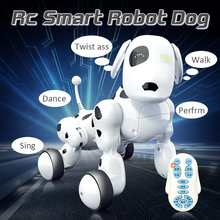 Hot Sale Domibot Wireless Remote Control Smart Robot Dog Sing Dance Walking Talking Dialogue Educational Toys Gift for Children(China)