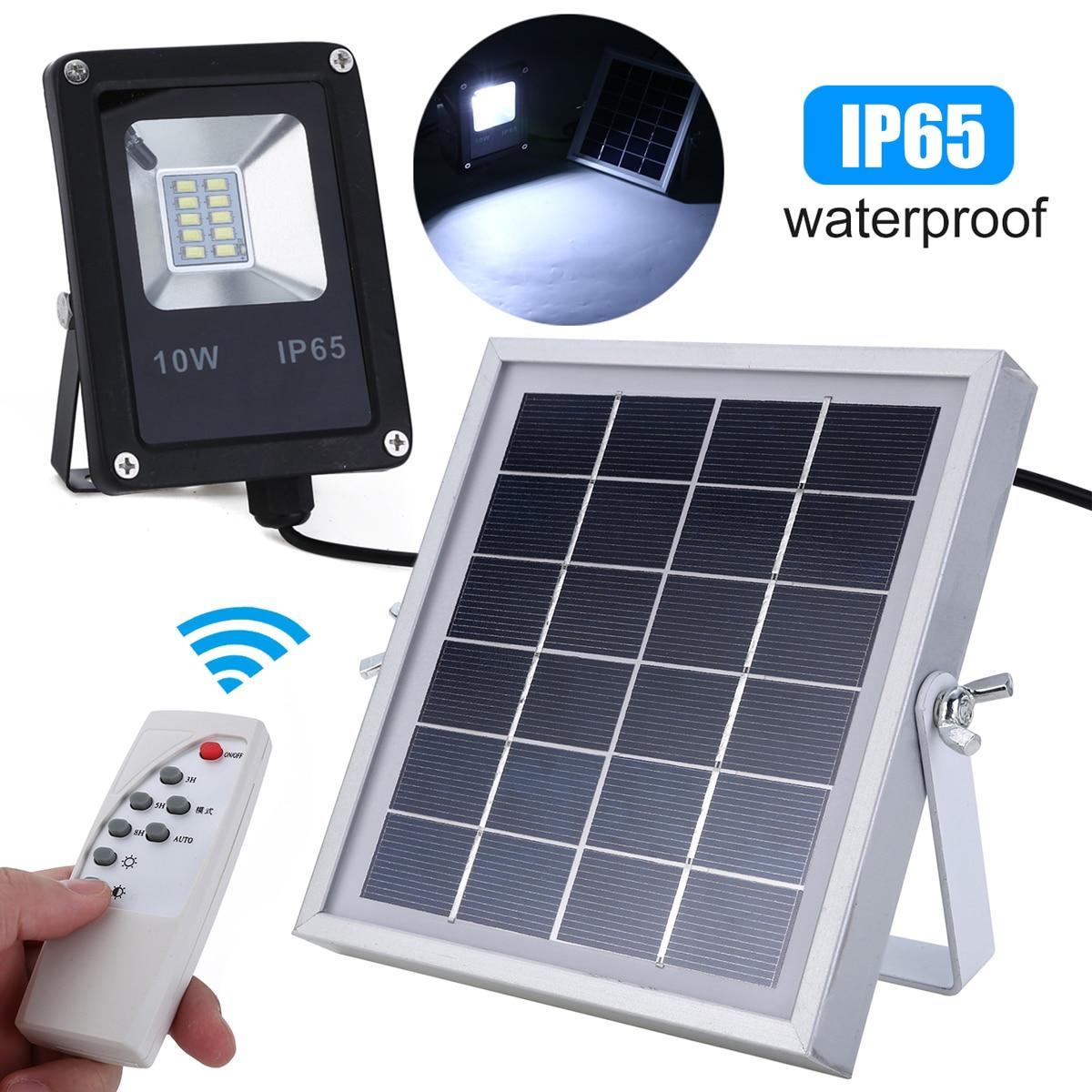 10W LED Waterproof Solar Lamp Powered Sensor Spotlights Flood Light Garden Outdoor Security Lamp Mayitr|Solar Lamps| |  - title=