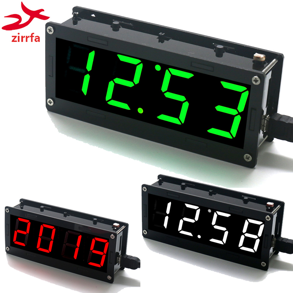 Electronic DIY Kit 1 inch digital tube Clock Kit High precision DS3231/DS1302 4-digit Display with Case Diy Kit Electronic