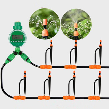 20m Atomizing Micro Sprinkler Water Timer Drip Irrigation Equipment Family Balcony Garden Timing Automatic Watering Kits