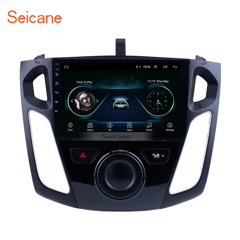 Seicane 9 Inch Android 8.1 Multimedia Player Car Radio For 2011 2012 2013-2015 Ford Focus Stereo Support Bluetooth WIFI USB OBD2