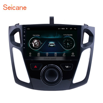 Seicane 9 pouces Android 8.1 lecteur multimédia autoradio pour 2011 2012 2013-2015 Ford Focus stéréo soutien Bluetooth WIFI USB OBD2