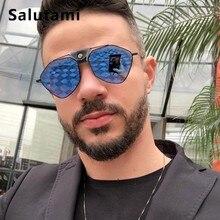 Polarized Polygon Alloy Men Sunglasses 2019 Luxury Brand Pu