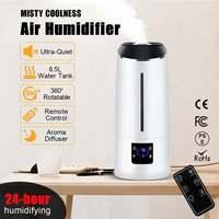 Air Humidifier Aromas Diffuser Remote Control LCD Mist Maker Fogger Timing 6.5L Large Capacity Smart Ultrasonic Air Purifier