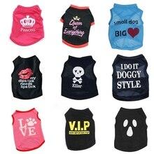 Одежда для домашних собак, жилет для собак, кошек, футболки, костюм для домашних животных, хлопковая одежда для маленьких собак, чихуахуа, крутая одежда для щенков, для Китти 45