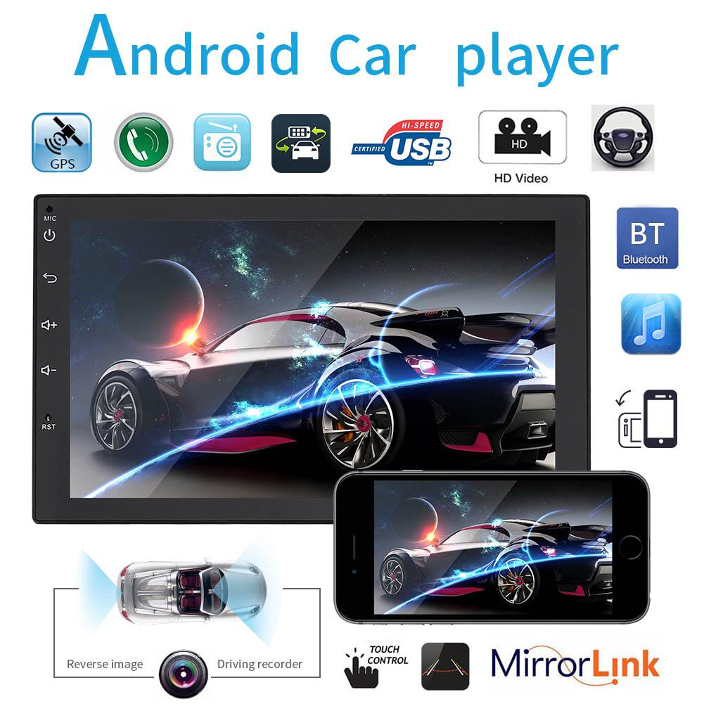 2 Din Car radio For Android 7 MP5 Player Touch Screen GPS Navigation Autoradio Wifi Car Audio Multimedia Player FM r20 image