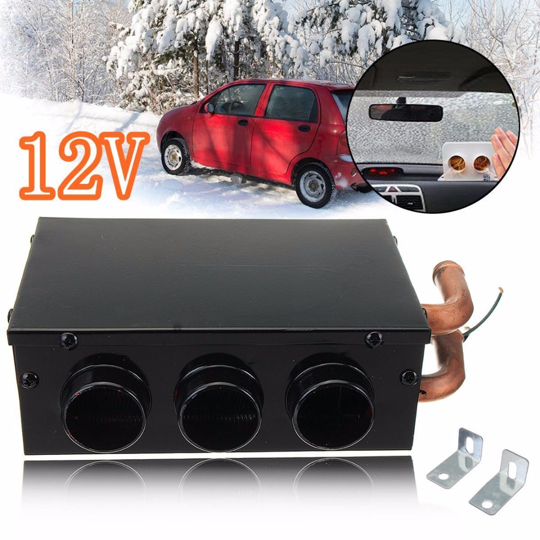 Car & Truck Parts Universal 3 Hole Portable Auto Car Heating Cooling Defroster Demister 80w 12v