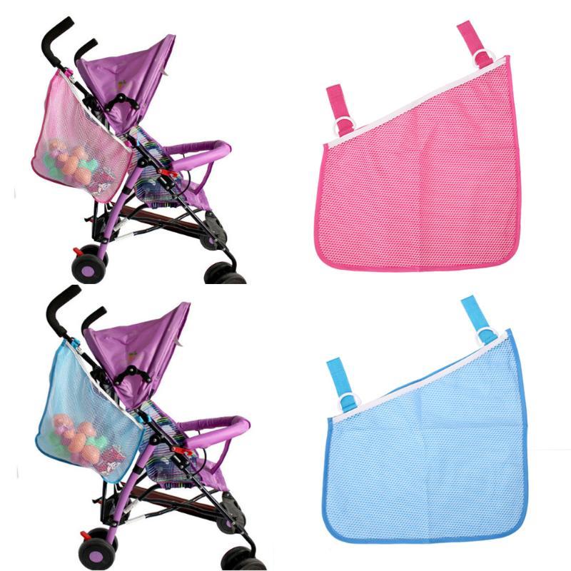 Practical Baby Trolley Bunch Net Pocket Infant Stroller Mesh Bottle Diaper Storage Organizer Bag Holder