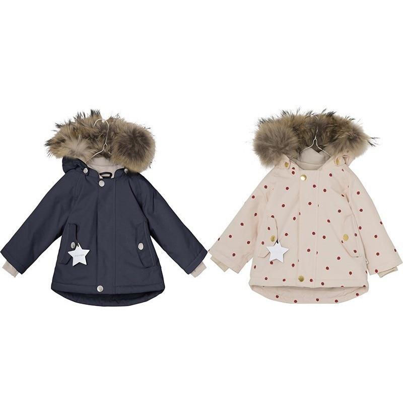 f576c4d56 Kids Down Jacket 2018 Winter Mat Boys Girls Cute Thicken Fur Hoodies ...