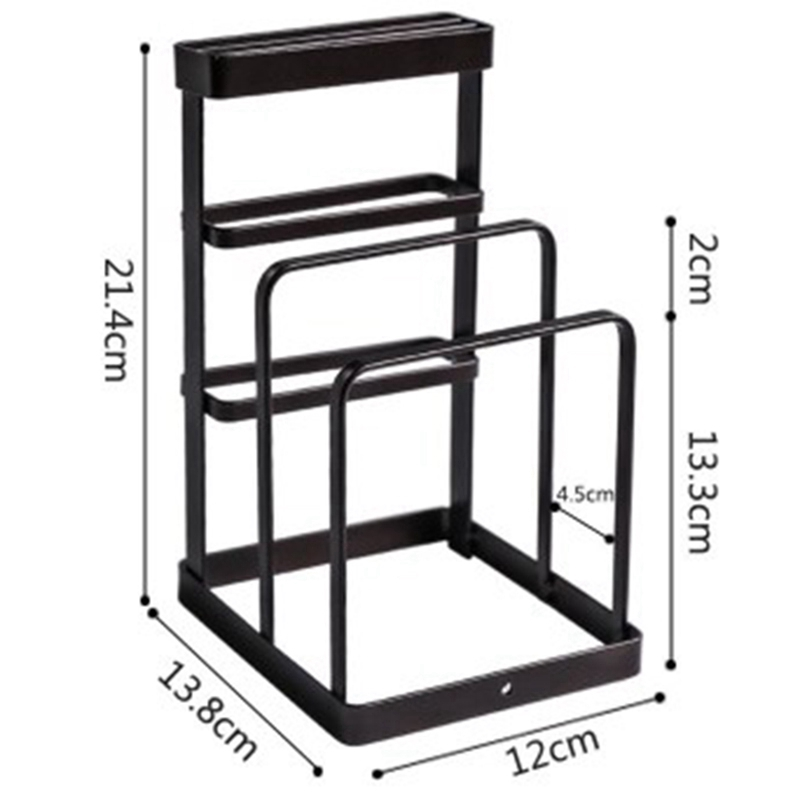 Image 3 - Wrought Iron Kitchen Tool Knife Storage Rack Drain Rack Kitchen Cutting Board Storage Rack Vertical Tool Holder-in Racks & Holders from Home & Garden
