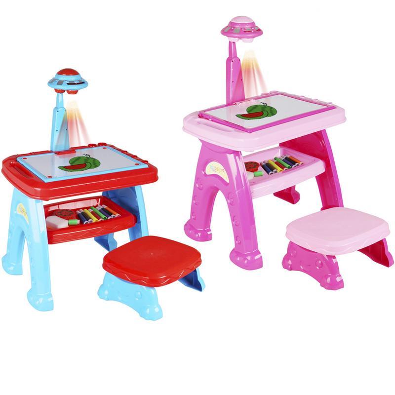 Lumières pour enfants jouets éducatifs Graffiti lumière Projection peinture éducation précoce infantile apprentissage Machine jouets
