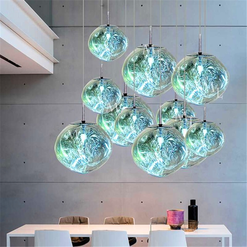 Modern Tom DIXON  Lava Pendant Lights LED Glass Ball Luminaria Pendant Lamp Bedroom Bar Living Room Kitchen Fixtures LuminaireModern Tom DIXON  Lava Pendant Lights LED Glass Ball Luminaria Pendant Lamp Bedroom Bar Living Room Kitchen Fixtures Luminaire