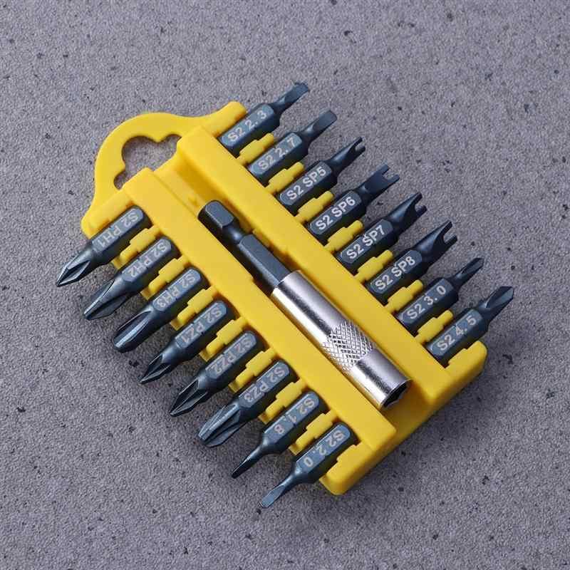 חבילה של 17 PCS פלדה Y U משולש סוג מברג ביטים סט עם קצת מוט בעל