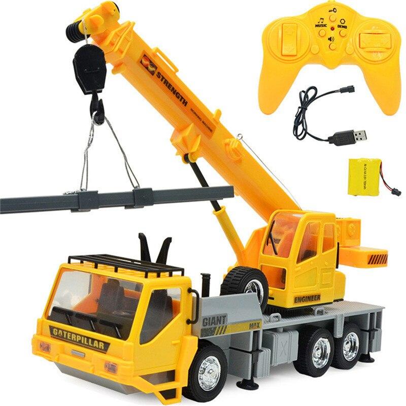 Simulation chaude RC pelle jouets 1:24 2.4G 8CH sans fil télécommandé rechargeable ingénierie véhicules grue camion enfants jouet
