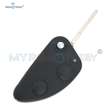 Remtekey Flip Folding Remote Key Case Shell Cover Replacement For Alfa Romeo 147 156 GT 2 Buttons Key Shell Car okeytech for alfa key 3 buttons flip folding uncut sip22 blade replace remote car key shell for alfa romeo 147 156 166 gt