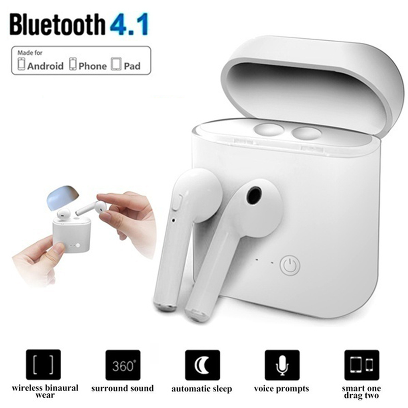 I7 Twins I7S TWS Earbuds Ture Wireless Bluetooth Double Earphones Earpieces Stereo Music Headset in Bluetooth Earphones Headphones from Consumer Electronics