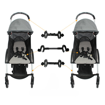 цена на New 3-Piece Universal Connector Header Stroller Accessories Twin Stroller Detachable Connector Lightweight Folding Stroller