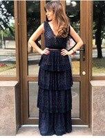Темно синее Элегантное длинное женское вечернее платье сексуальное женское платье с открытой спиной