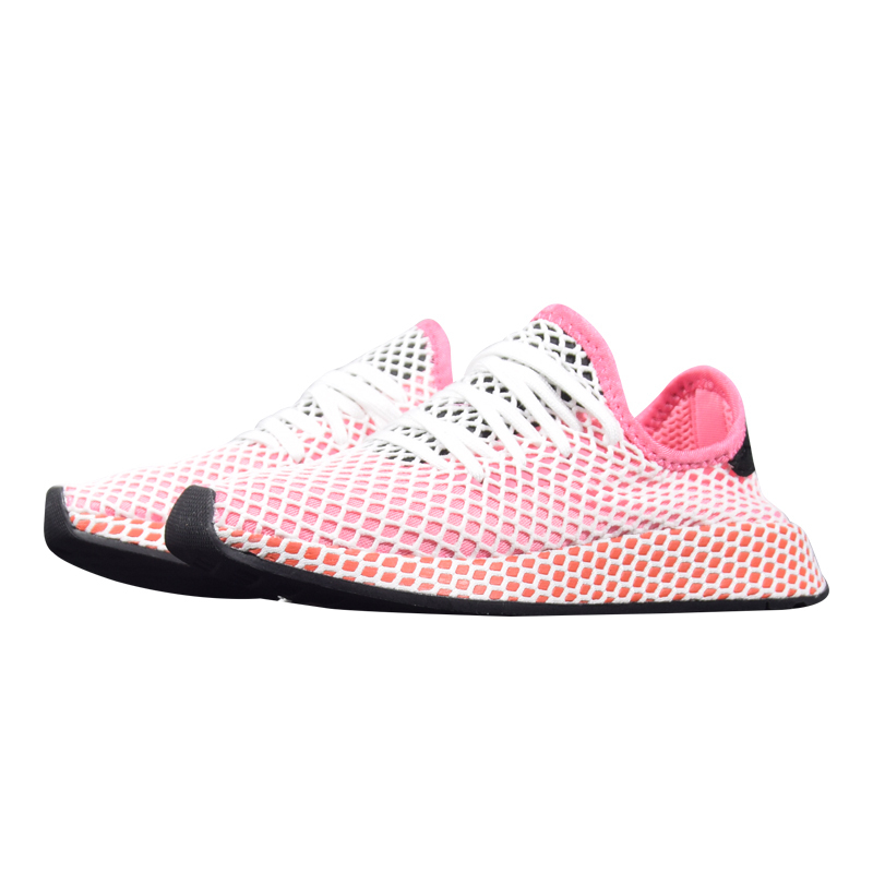 960123c410f667 Adidas Deerupt Runner Women Running Shoes Black   Pink Pink Wear resistant  Breathable Lightweight Sneakers  CQ2909 CQ2910-in Running Shoes from Sports  ...