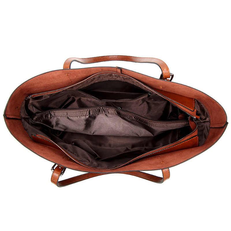 Hakiki deri çanta çanta kadın rahat omuz çantaları bayanlar askılı çanta tasarım fermuar Hobos kadın postacı çantası C832