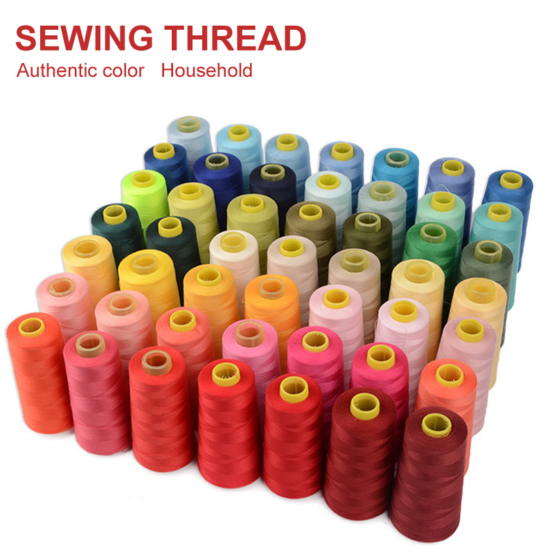 Shirt Dress Sewing Accessories 3000 Yards Length Industrial Sewing Thread Machine Polyester Thread Multicolor 40S/2 Threads