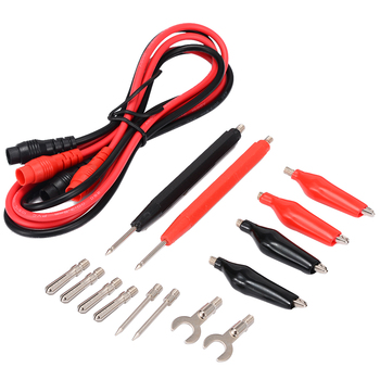 цена на 16pcs in 1 set Universal Digital Multimeter Probe 90cm Needle Tip Probe Test Leads Pin Wire Pen Cable Test Line Assortment Kit