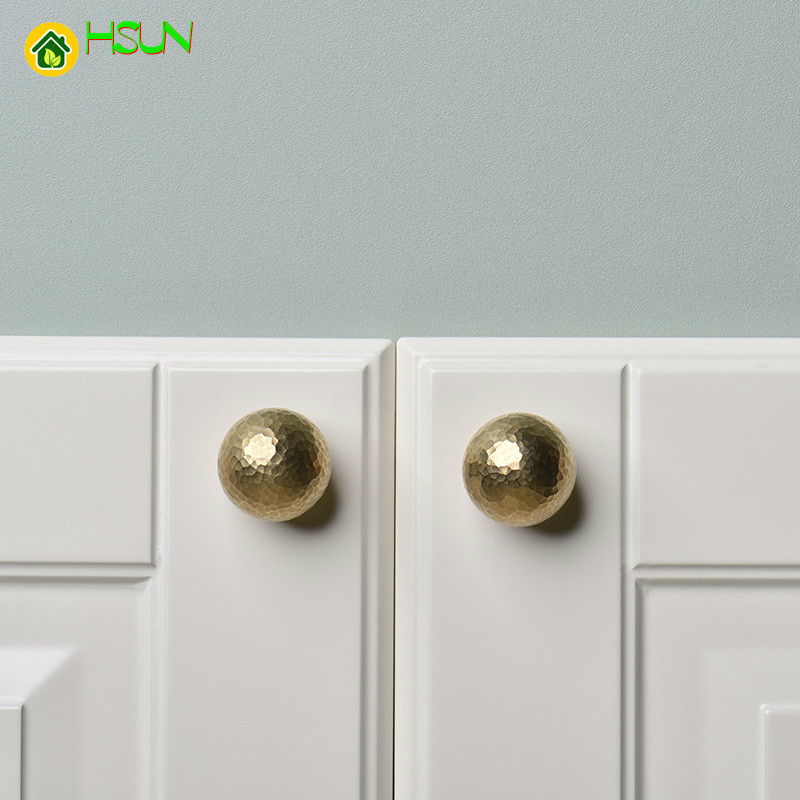 1 Pc Gold Br Round Cabinet Door S And Handles Furnitures Cupboard Wardrobe Drawer Pull In Pulls From Home Improvement On