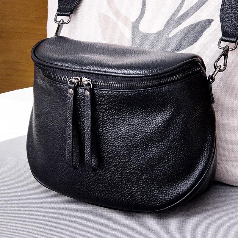 Fashion Women Handbag 100% Genuine Leather Waist Bag Lady Casual Tote  Female Crossbody Messenger Purse Grey Shoulder Bag