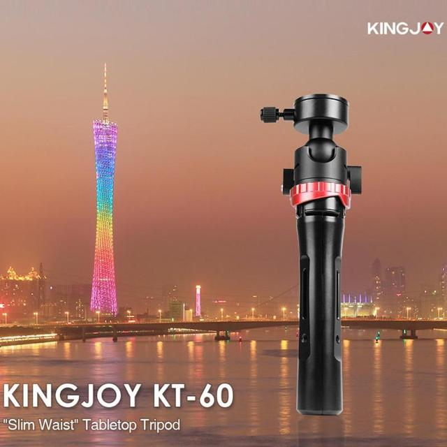 Kingjoy KT-60 Mini Tripod Handheld Travel Desktop Tripod Phone Stand Holder Brackefor Canon Nikon Sony DSLR Action Sports Camera
