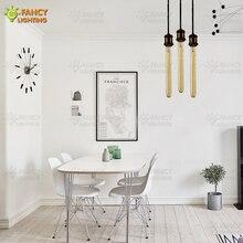 6 unids/lote Luz de edison bombilla E27/E14 vintage lámpara de 110V/220V ampolla para casa/dormitorio/Decoración Para sala de estar 40W/60W bombilla incandescente