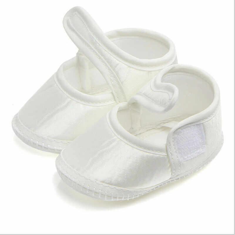 Recién Nacido bebé niña cuna zapatos casuales zapatos de suela suave blanco zapatos para caminar para 0-6 meses, los bebés