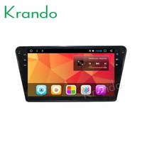 Krando Android 8.1 10.1Full touch car Multimedia player for Peugeot 408 2014 2016 navigation system radio player gps wifi BT