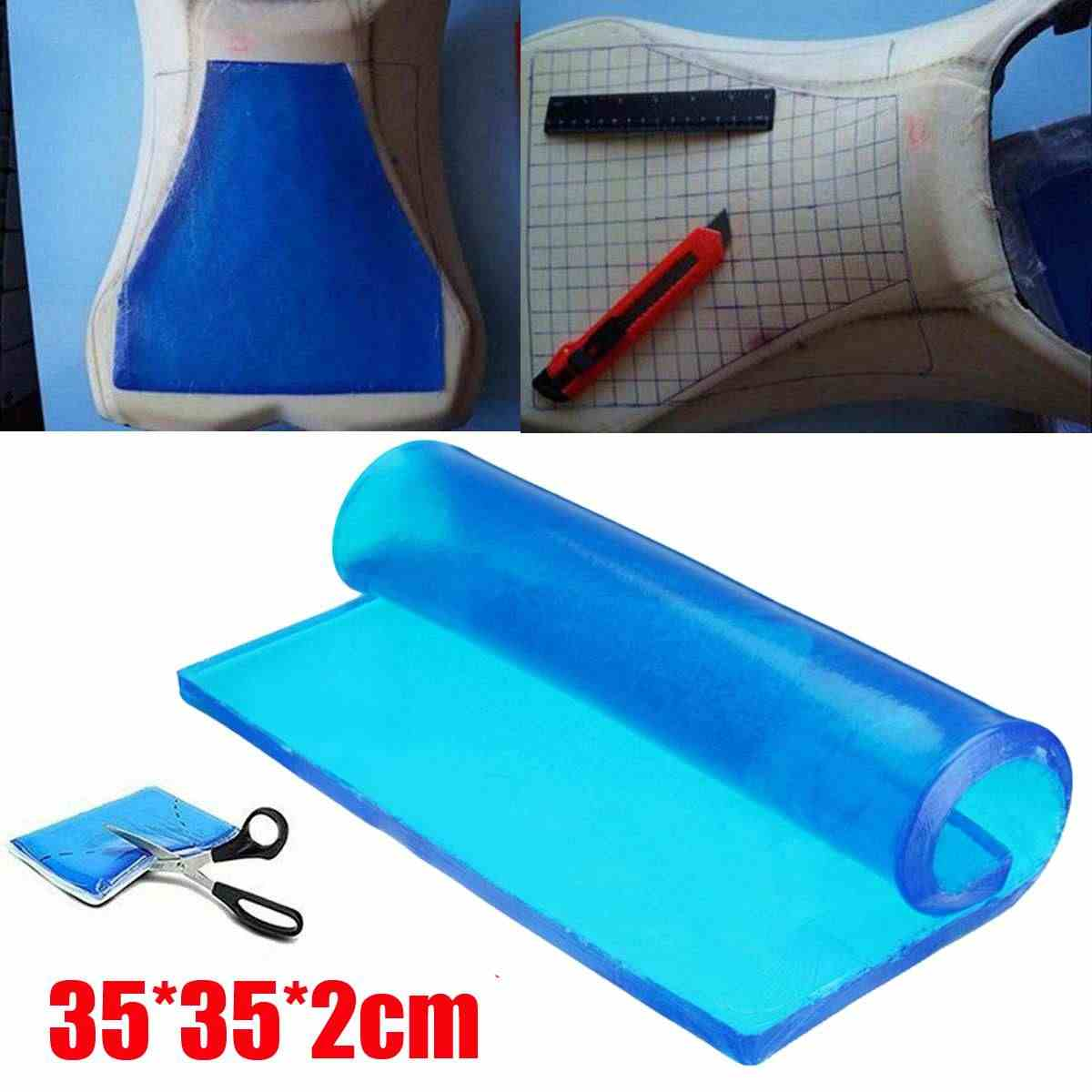 New DIY Modified 35x35x2cm Comfortable Mat Hock Absorption Mats Thickness  Damping Silicone Gel Pad Motorcycle Seat Cushion