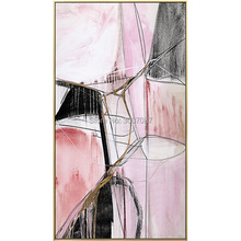 Abstract Gold silvery Modern home Decorative 100%hand painted abstract oil Painting canvas painting wall art Hotel Living Room