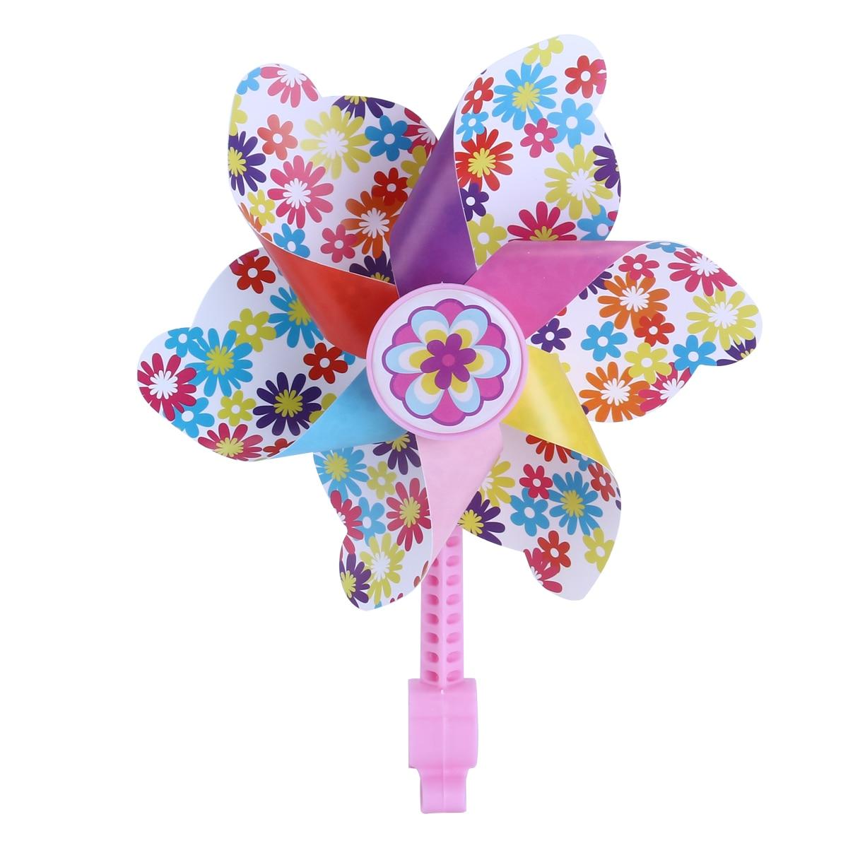 1 Pc Kinder Bike Lenker Blume Windrad Windmühle Dekoration Für Kinder Fahrrad Roller (rosa Lange Pol)