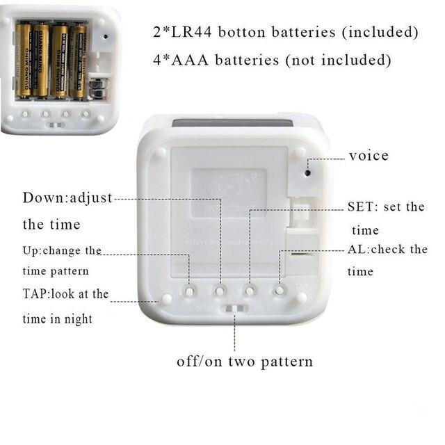 Cubic Digital Alarm Clock Night Light 3