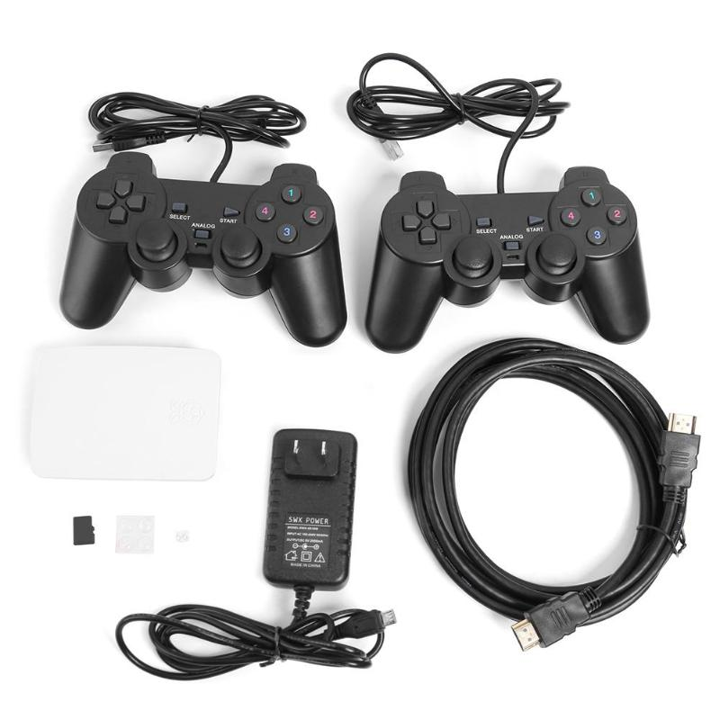 16000 in 1 128GB Quad Core TV Video Game Player Box Accessory For Rraspberry Pi With 2 USB Wired Gamepad Controller Game Console16000 in 1 128GB Quad Core TV Video Game Player Box Accessory For Rraspberry Pi With 2 USB Wired Gamepad Controller Game Console