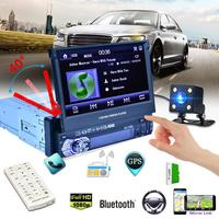 RK 7158G Car Radio Media Multimedia Player Vehicle Mounted Full Retractable Screen MP5 /MP4 / MP3 GPS Navigation Rearview Camera