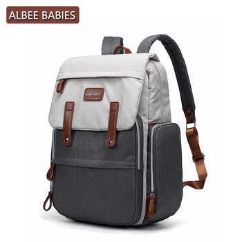 ALBEE BABIES Baby Care Diaper Maternity Bag for Mom Mommy Backpack Stroller Nappy Changing Bags Wet Mother Travel Nursing - DISCOUNT ITEM  26% OFF All Category
