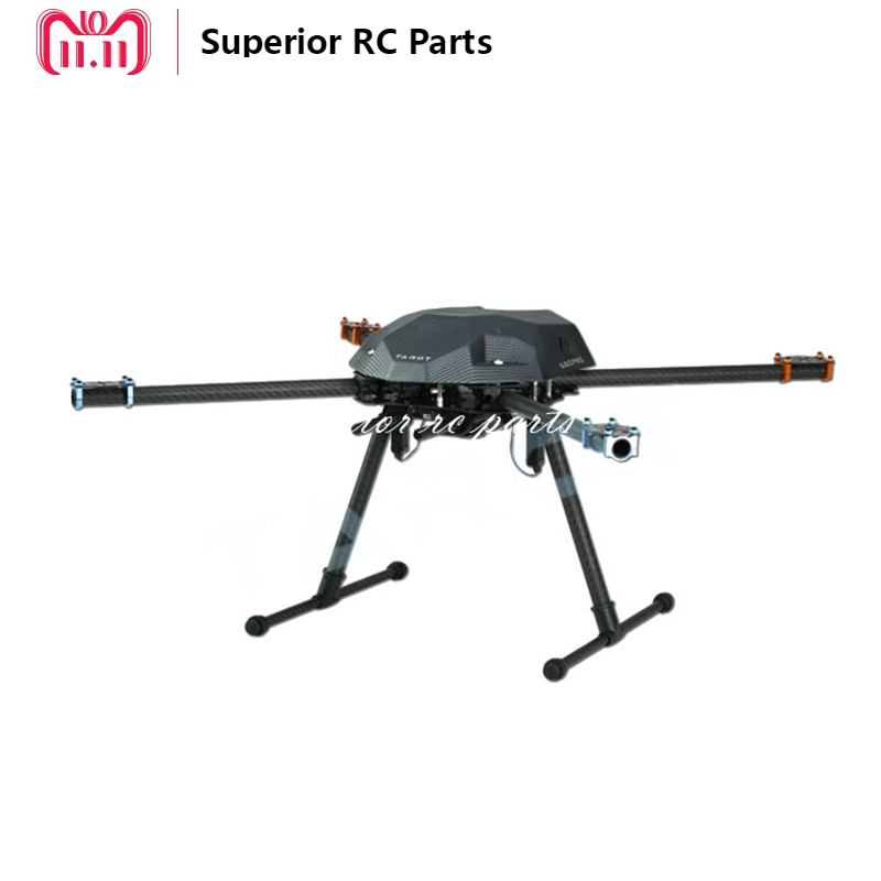 Tarot XS690 TL69A01 Sport Quadcopter with TL69A02 Metal Electric Retractable Landing Gear Skid & TL8X002 Controller FPV 20% OFF tarot tl69a02 metal electric retractable landing gear skid kit for tarot xs690 tl69a01 wheelbase 400 700 multicopter fpv f17602