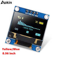"0.96"" Inch Blue I2C IIC Serial 128x64 OLED LCD LED SSD1306 Module for Arduino Raspberry Pi Display"