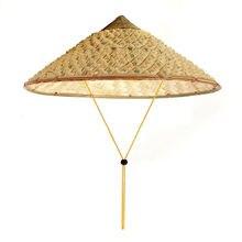 Вьетнамская японская крутая соломенная бамбуковая конусная шляпа от солнца садовая фермерская Рыболовная