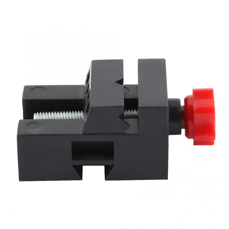 Z012 Mini Multipurpose Plastic ABS Screw Bench Vise Machine Wood Turning Machine Accessory Purpose Fixing Workpiece and Material